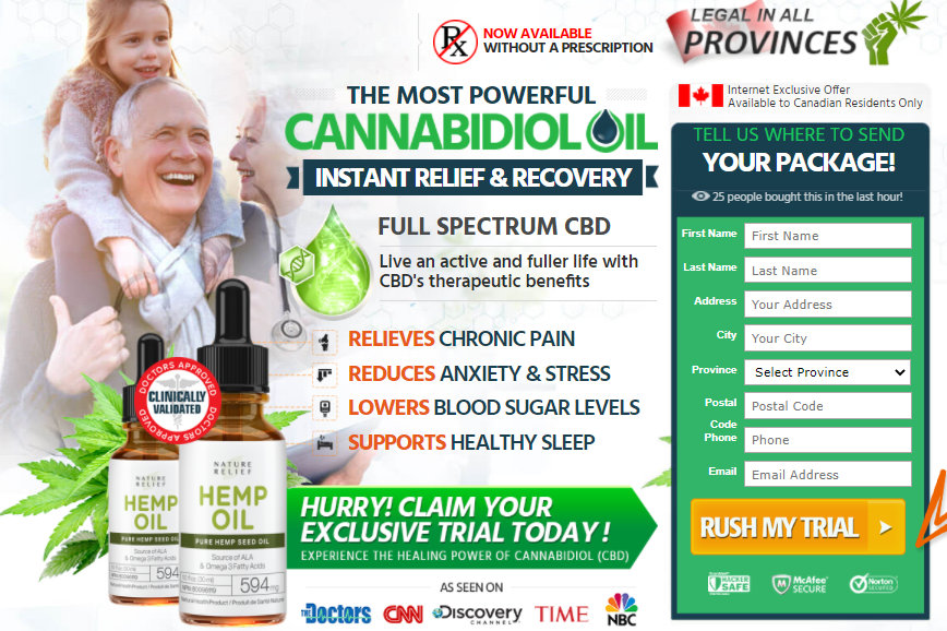 Nature Relief Hemp Oil: [Canada-CA] Reviews, Benefits, Relief Anxiety & Stress, Price!