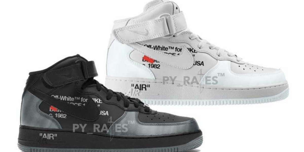 Latest 2022 Off-White x Nike Air Force 1 Mid White and Black be released In May